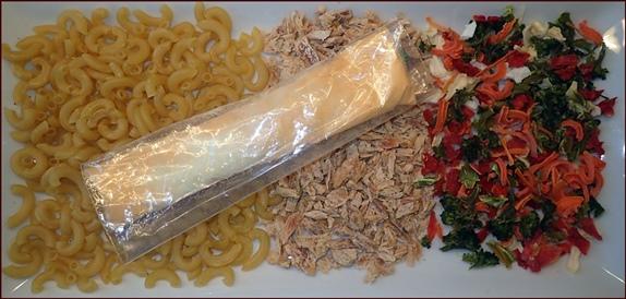 Dried Vegetables in Tuna Mac Casserole