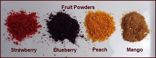 How to Make Fruit Powders from Fruit Leather: Strawberry, Blueberry, Peach, and Mango