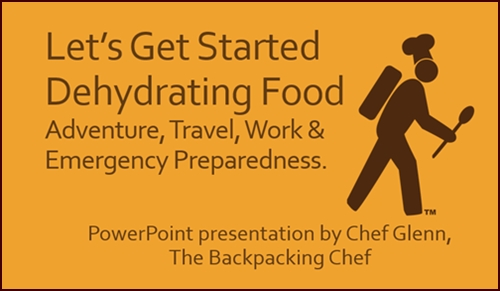 Let's Get Started Dehydrating Food. PDF of PowerPoint presentation.