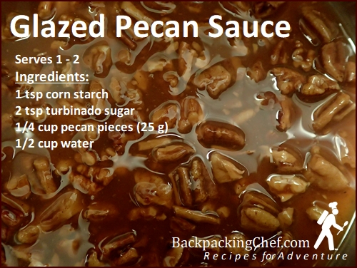 Glazed Pecan Sauce for Sweet Potato Pudding.