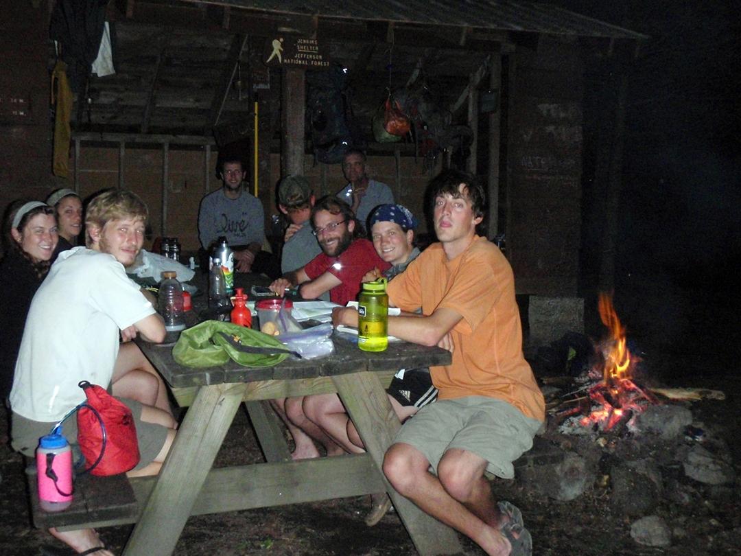 Appalachian Trail Thru-hikers staying up past