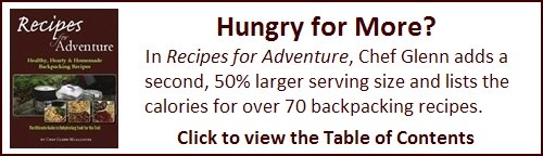 Recipes for Adventure has over 70 backpacking recipes with complete dehydrating instructions.