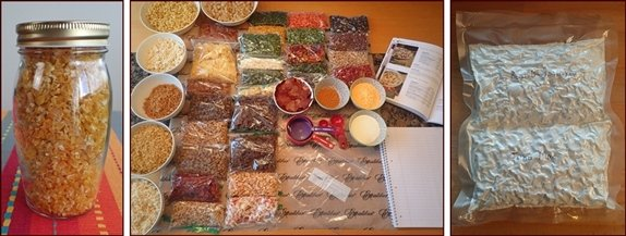Storing Dehydrated Vegetables