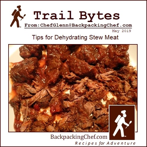 Tips for Dehydrating Stew Meat.