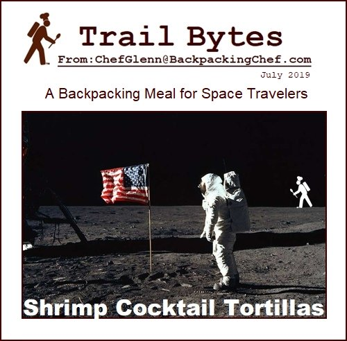 Backpacking Lunch Recipe: Shrimp Cocktail Tortillas.