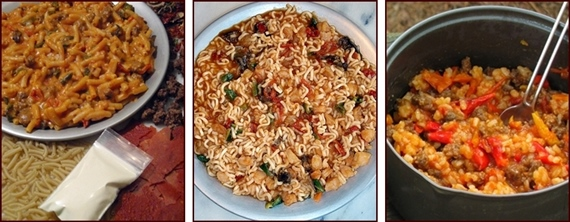 Recipes with Tomato Sauce Leather: Macaroni Cheesy Tomato Sauce, Seafood Raminara, and Unstuffed Peppers.