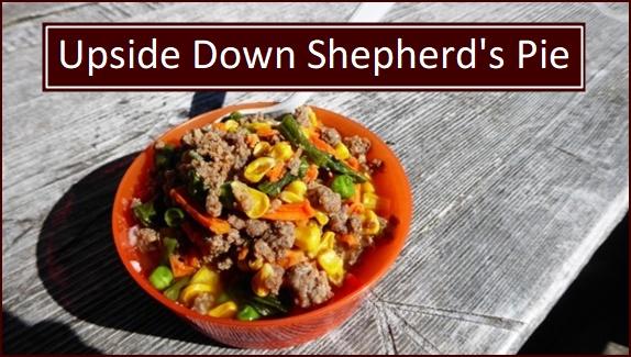 Backpacking Recipes: Upside Down Shepherd's Pie.