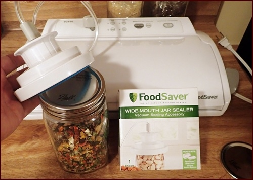 Wide-mouth Jar Vacuum Sealing Accessory from FoodSaver.